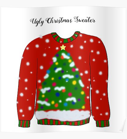 Ugly Christmas Sweater Poster