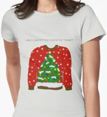 Ugly Christmas Sweater Women's Fitted T-Shirt
