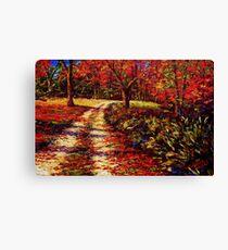 The Autumn Road Canvas Print