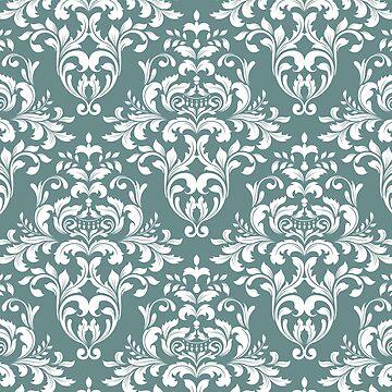 dark teal,green,damasks,pattern by love999