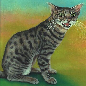 Savannah cat by phumbargar