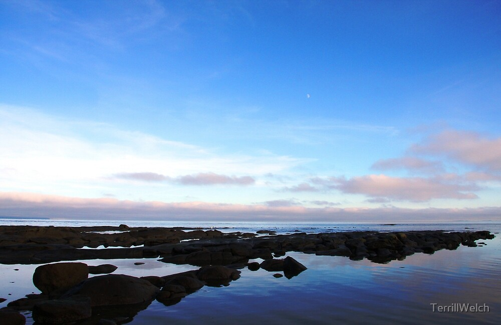 rocks water and sky by TerrillWelch
