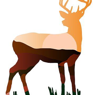 deer by Pferdefreundin