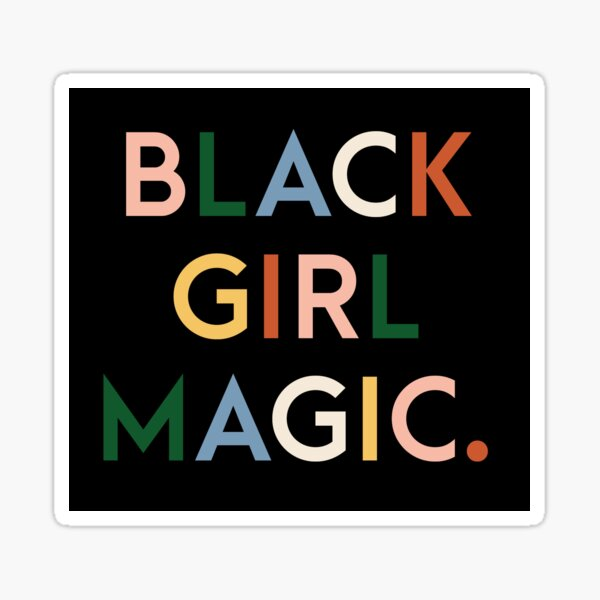 Black Girl Magic Modern Print Sticker