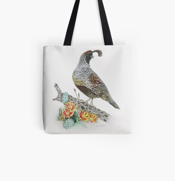 Gambel's Quail Pillows and Totes All Over Print Tote Bag