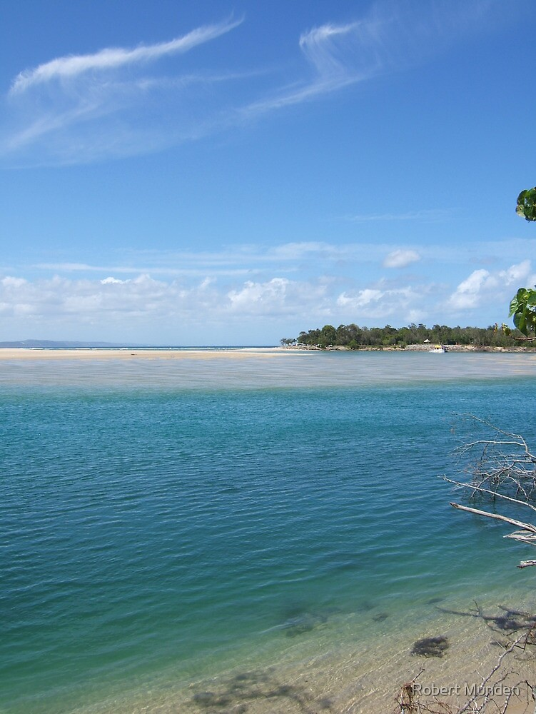 Noosa river enters the Laguna bay over a dangerous sand bar by Robert Munden