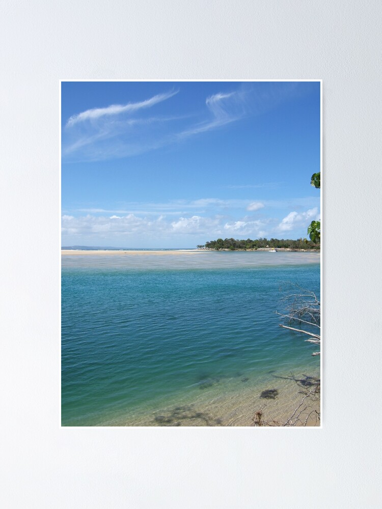 Alternate view of Noosa river enters the Laguna bay over a dangerous sand bar Poster