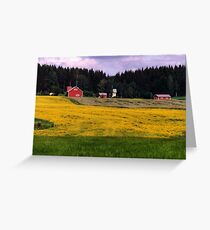 a historic Finland landscape Greeting Card