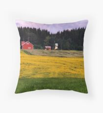 a historic Finland landscape Throw Pillow