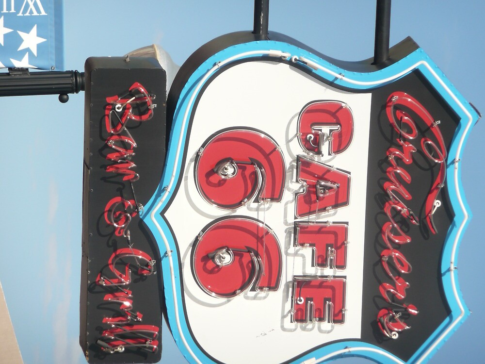 Cruiser's Bar & Grill 66 in Holbrook, Arizona. by Mywildscapepics