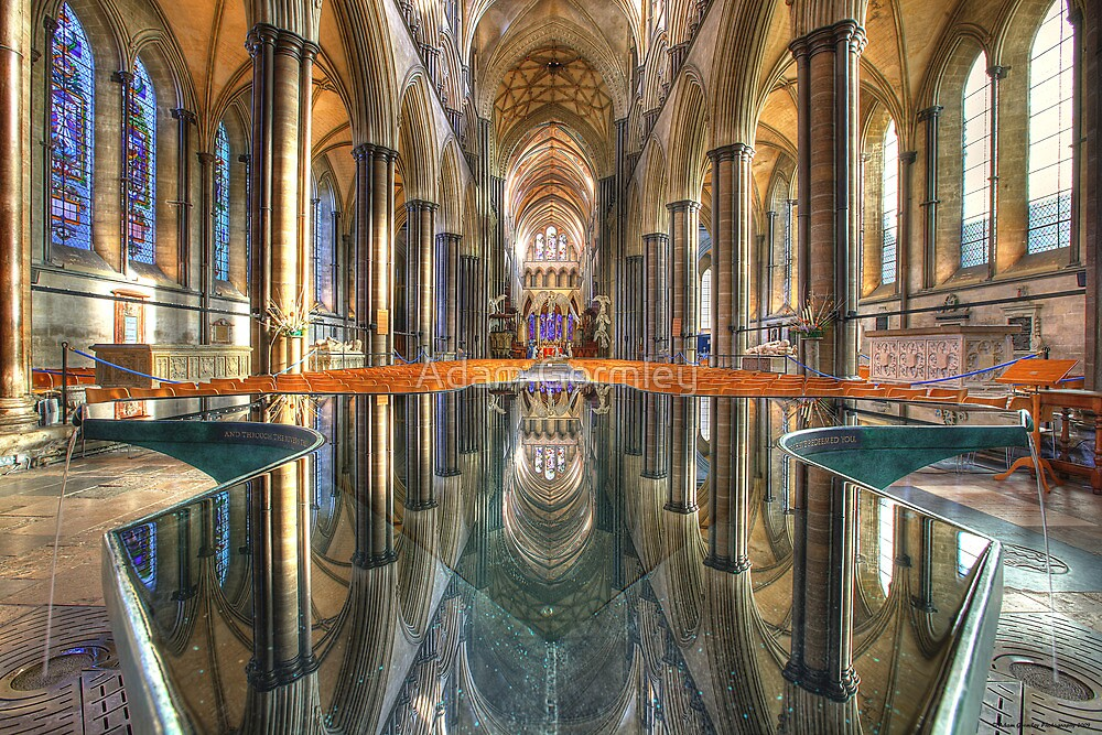 Salisbury Cathedral Interior Reflections by Adam Gormley