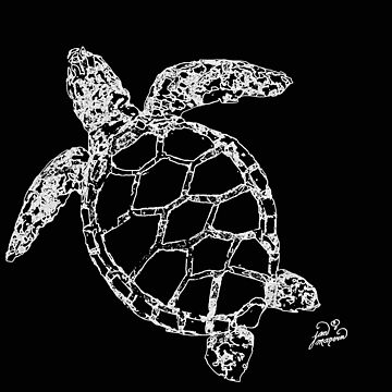 Sea Turtle Outline by janmarvin