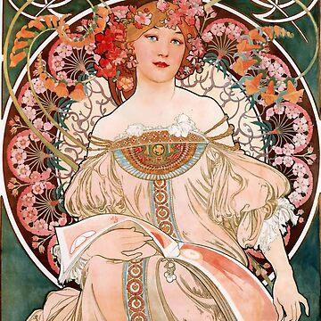 Alphonse Mucha, F. Champenois,vintage,Art Nouveau,poster by love999