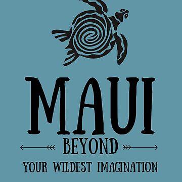 Retro Vintage 70's Hawaiian The Aloha State Maui by YuliyaR