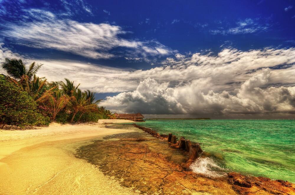 Maldivian Beachside by Marco Heisler