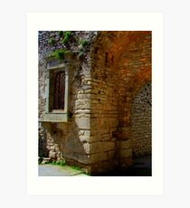 Arch & Stair Series - Erice archway  Art Print