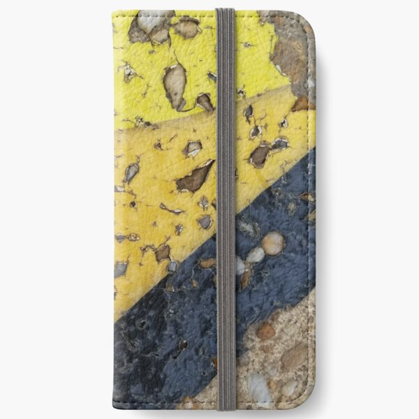Bright Yellow and Black iPhone Wallet