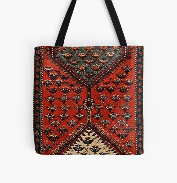 Oriental red runner pattern - hexagons  All Over Print Tote Bag