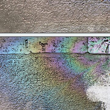 Unique and Tranquil Rainbow Oil Paint Spill by magentasponge
