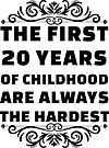 20th Birthday Shirt | 20 Years Old | First 20 Years Funny Tee by wantneedlove