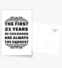 21st Birthday Shirt | 21 Years Old | First 21 Years Funny Tee Postcards