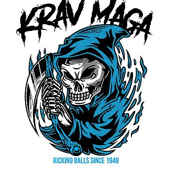 Kick Ass Krav Maga Urban Reaper Design by loumed