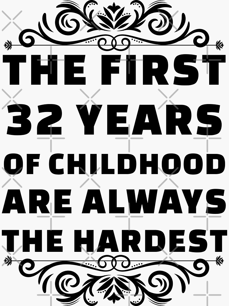 32nd Birthday Shirt   32 Years Old   First 32 Years Funny Tee by wantneedlove