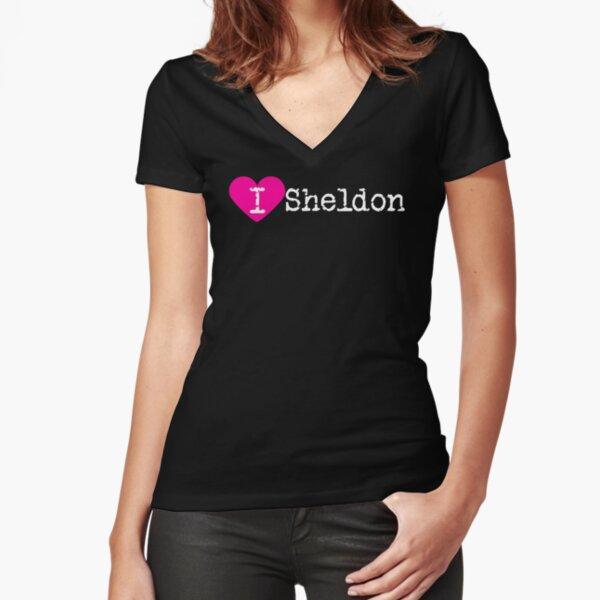I corazón Sheldon | Amor sheldon Camiseta entallada de cuello en V