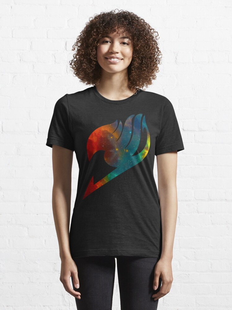 Alternate view of Fairy Tail Galaxy Universe Guild Symbol Multicolored Essential T-Shirt