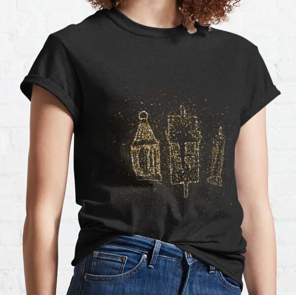 Replacement lamp lantern candle golden ornament Gold Classic T-Shirt
