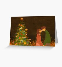 Christmas kissing Greeting Card