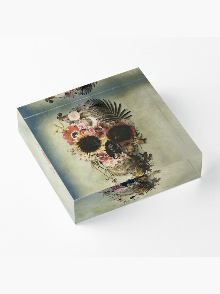 Alternate view of Garden Skull Light Acrylic Block