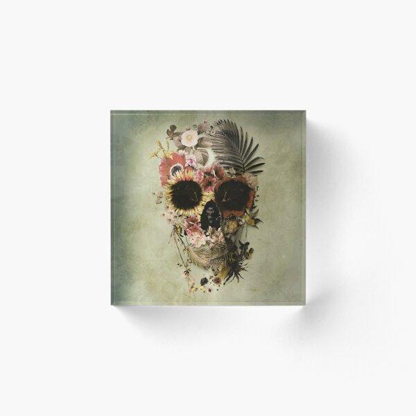 Garden Skull Light Acrylic Block