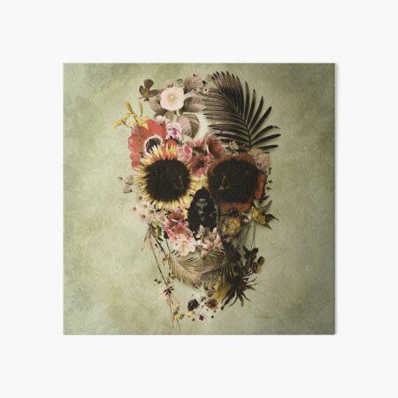 Garden Skull Light Art Board Print