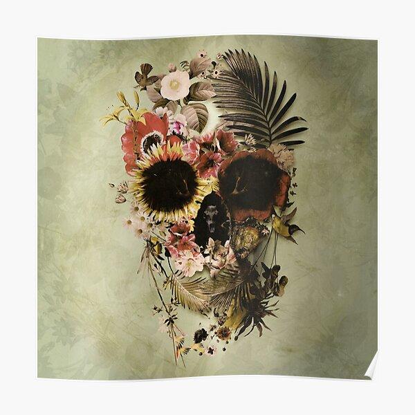 Garden Skull Light Poster