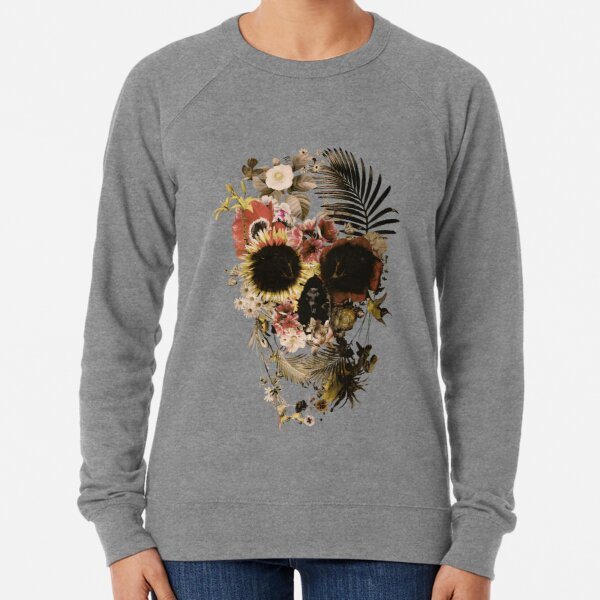 Garden Skull Light Lightweight Sweatshirt