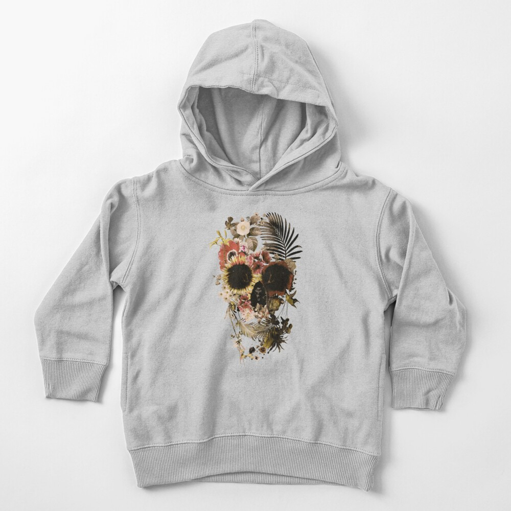Garden Skull Light Toddler Pullover Hoodie