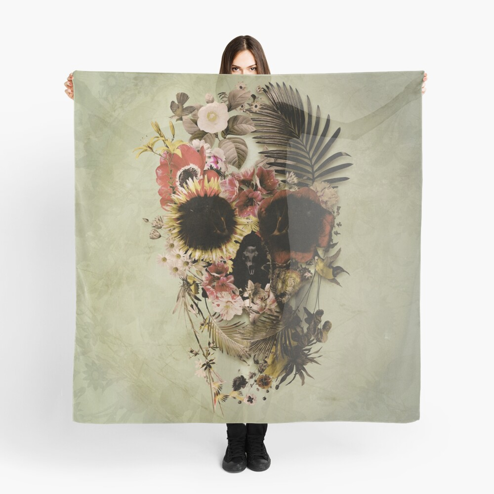 Garden Skull Light Scarf