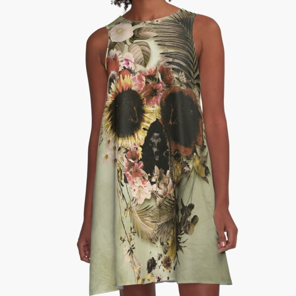 Garden Skull Light A-Line Dress