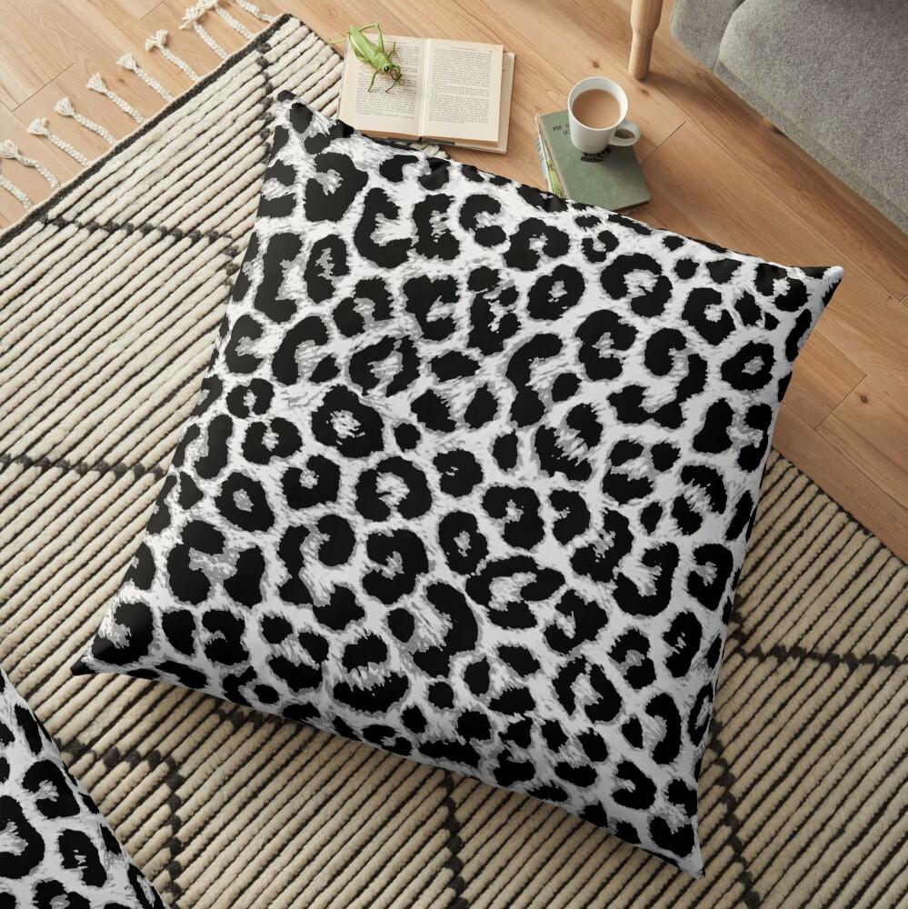 ReAL LeOparD B&W Floor Pillow