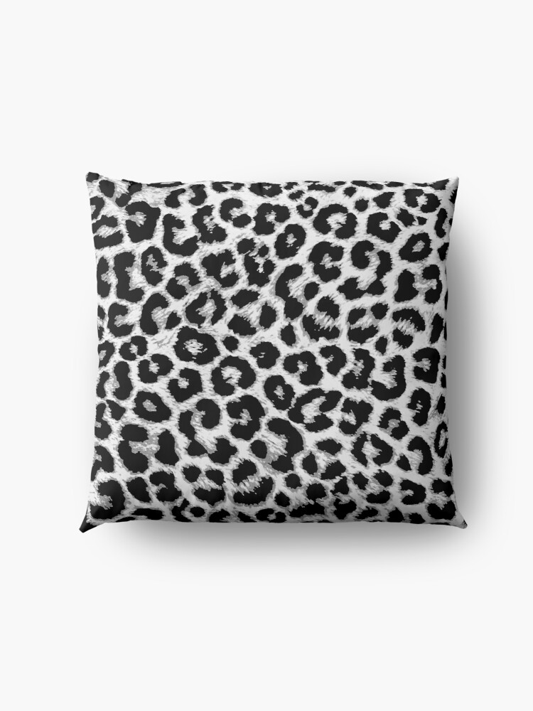 Alternate view of ReAL LeOparD B&W Floor Pillow