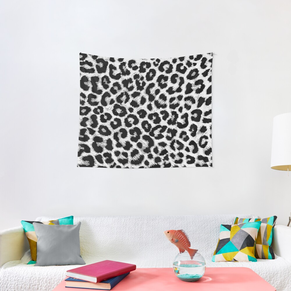 ReAL LeOparD B&W Tapestry