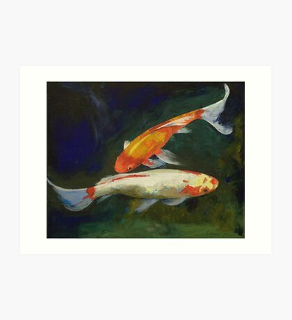 Feng Shui Koi Fish Art Print