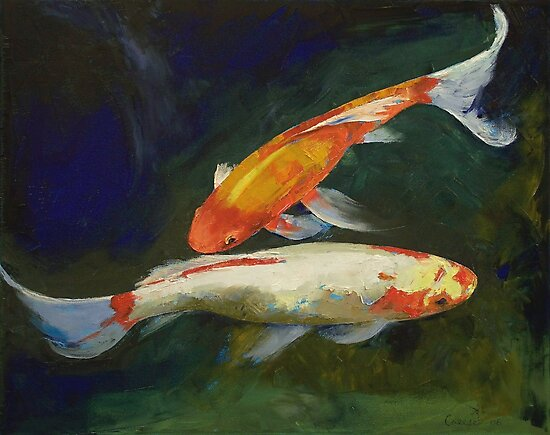Feng Shui Koi Fish by Michael Creese