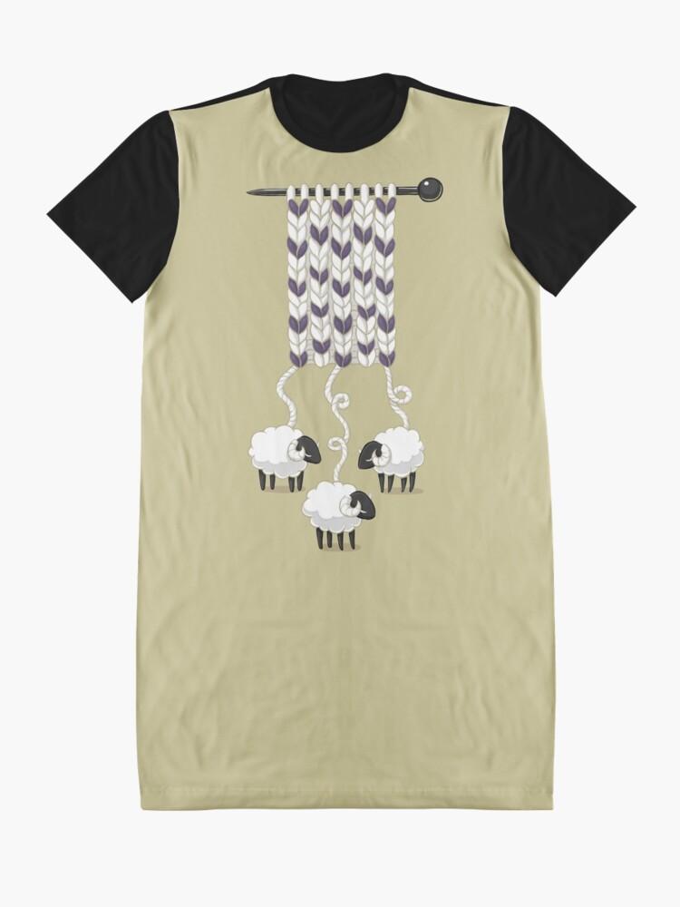 Alternative Ansicht von Wollschal T-Shirt Kleid