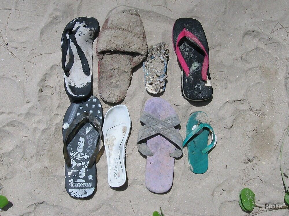 Shoes on Beach by Rodka
