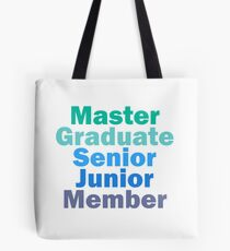TDA Artist Ranks Tote Bag