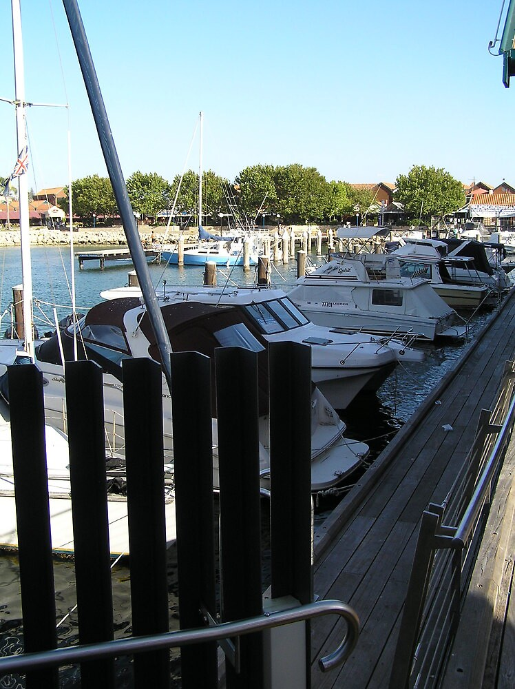Boats at Hillarys with small fence by Wildflower7777