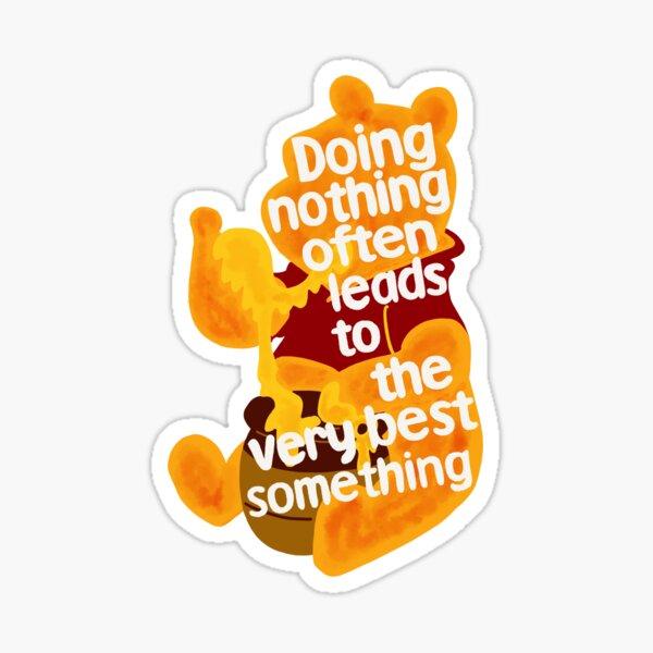 Doing nothing bear Sticker