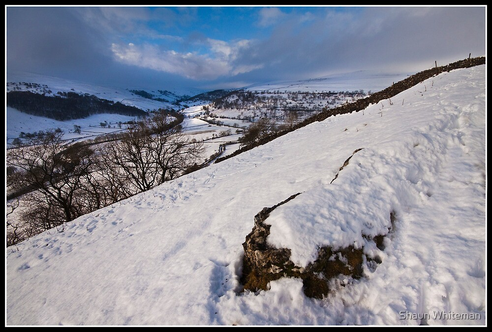 A winters view of the Wharfdale valley by Shaun Whiteman